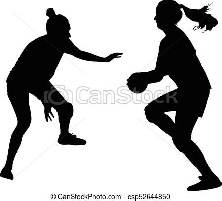 handball woman player - csp52 - Handball Clipart