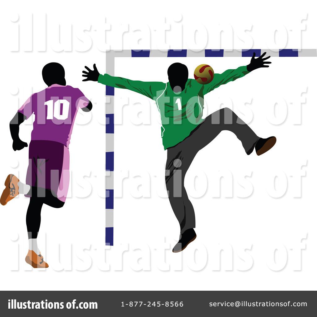 Royalty-Free (RF) Handball Clipart Illus-Royalty-Free (RF) Handball Clipart Illustration #228536 by leonid-17