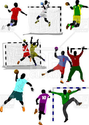 Silhouettes Of Handball Players In Actio-Silhouettes of handball players in action, 55417, download royalty-free  vector vector image ClipartLook.com -9