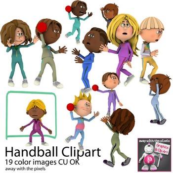Team Handball Sport Clip Art For PE - Eu-Team Handball Sport Clip Art for PE - European Handball-19