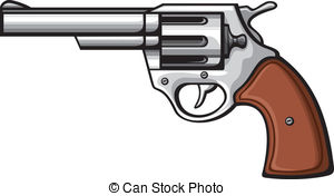 ... handgun-old revolver - ha - Handgun Clip Art