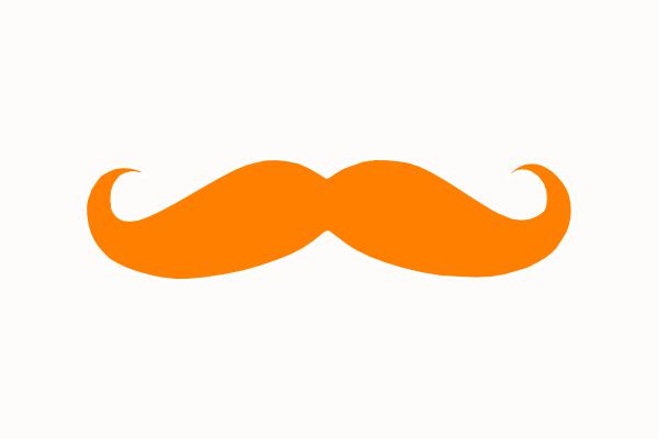 Handlebar Mustache Clip Art Clipart Panda Free Clipart Images