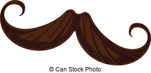... Handlebar Mustache - This is a vector illustration of a.