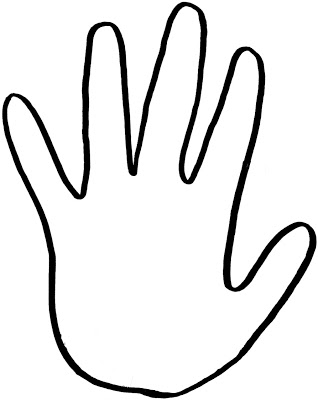 Handprint Outline Clipart