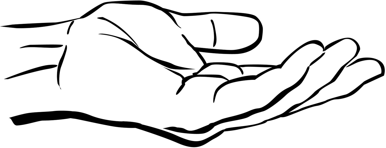 hands clipart black and white - Hands Clipart Black And White