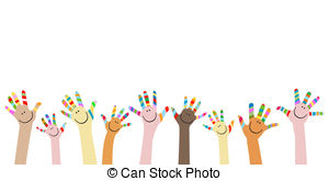 . ClipartLook.com colorful hands with smiling faces