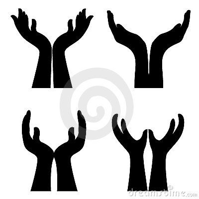 Open Giving Hands Clipart