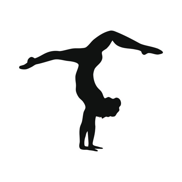 Handstand Silhouette Clipart - Gymnast Silhouette Clip Art
