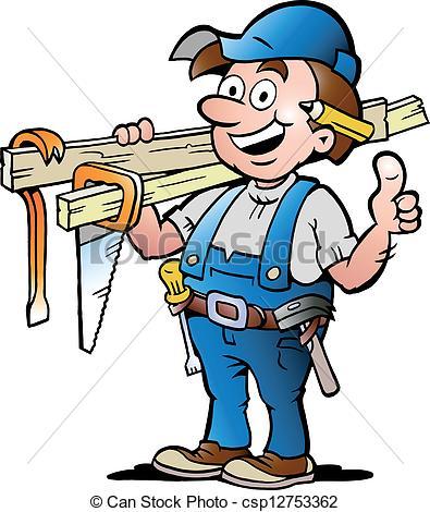 Handyman - Carpenter Blue Clip Artby Naz-Handyman - Carpenter blue Clip Artby nazlisart33/2,740; illustration of an Happy Carpenter - Hand-drawn Vector... ...-18
