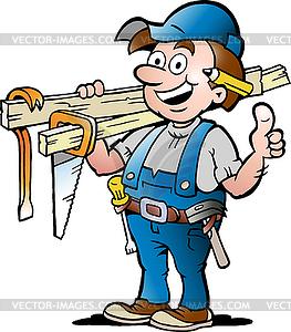 Handyman - vector clipart. u203a-Handyman - vector clipart. u203a-2