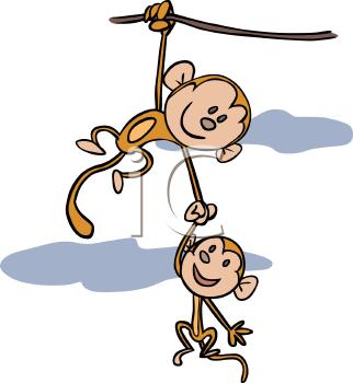 hanging monkey clip art