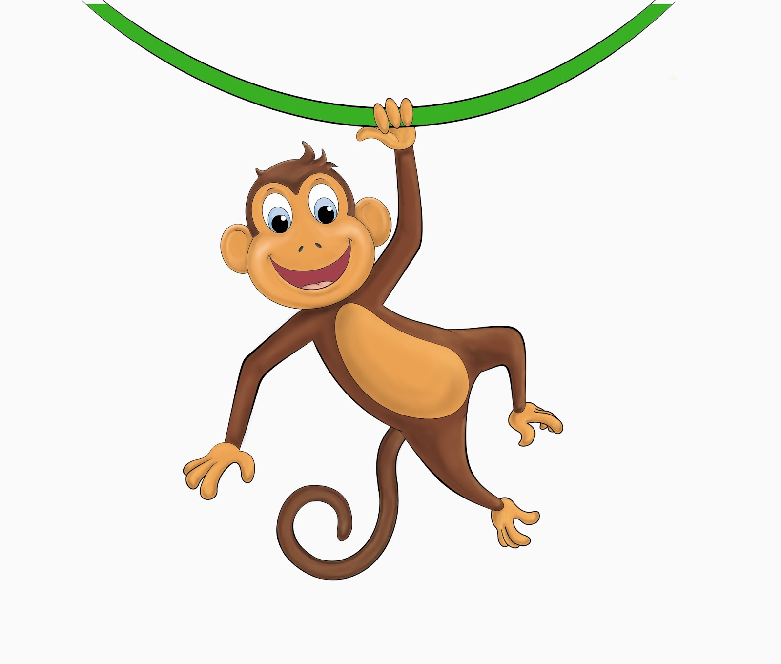 hanging monkey template