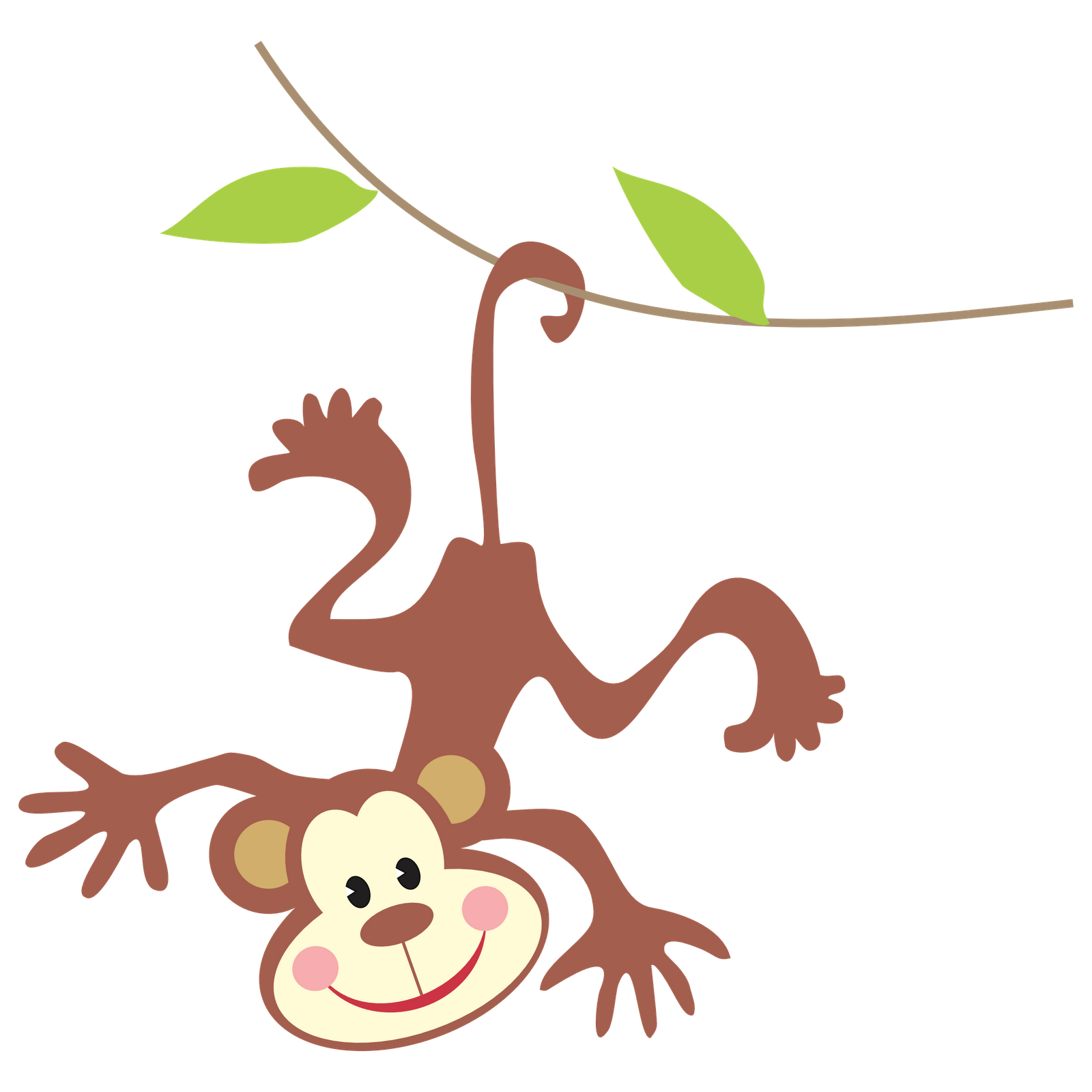 Hanging Monkey Clipart Clipart Panda Free Clipart Images