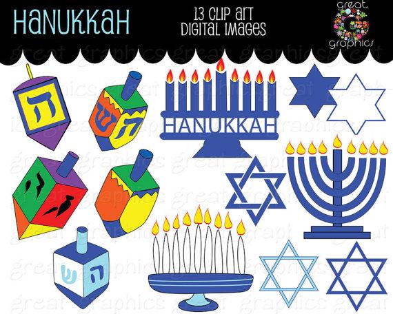 Hanukkah Clip Art Digital Images-Hanukkah Clip Art Digital Images-8