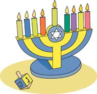 Hanukkah Menorah Size: 99 Kb - Hanukkah Clip Art Images
