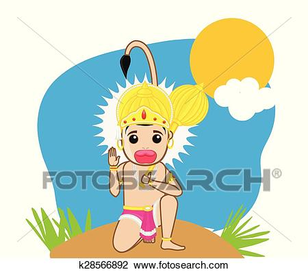 Clipart - Happy Hanuman Jayanti. Fotosearch - Search Clip Art, Illustration  Murals, Drawings
