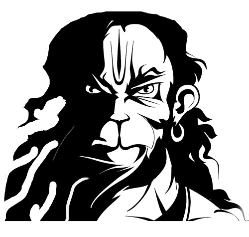 hanuman face clipart 8