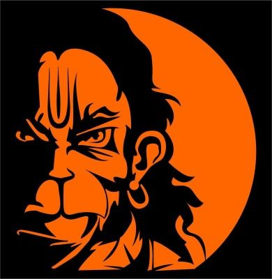 iDesign Hanuman Face 5inch Windows Car Sticker | Price Compare India -  41814385