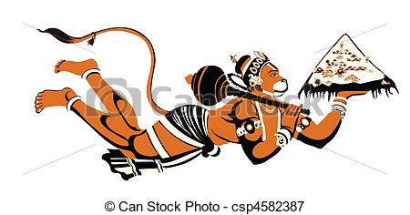 lord hanuman - csp4582387