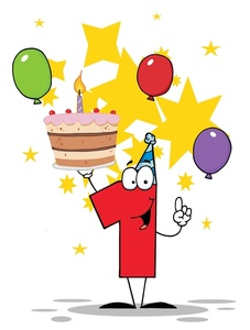 Happy 1st Birthday Clip Art. Free Birthd-Happy 1st Birthday Clip Art. Free Birthday Cake Balloons .-12
