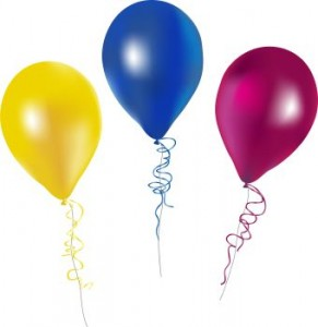 happy birthday balloons clipa - Free Clipart Balloons