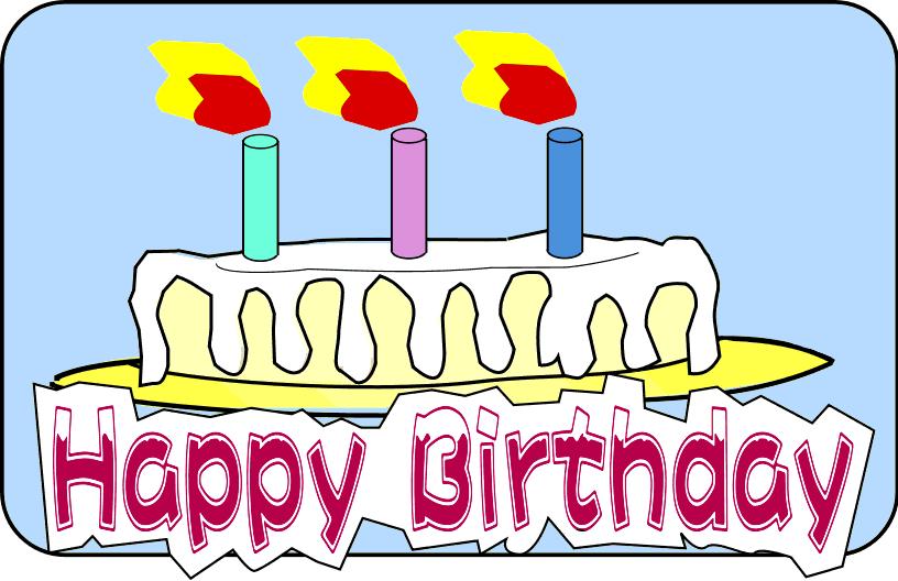 happy birthday cake clipart - Free Happy Birthday Clipart