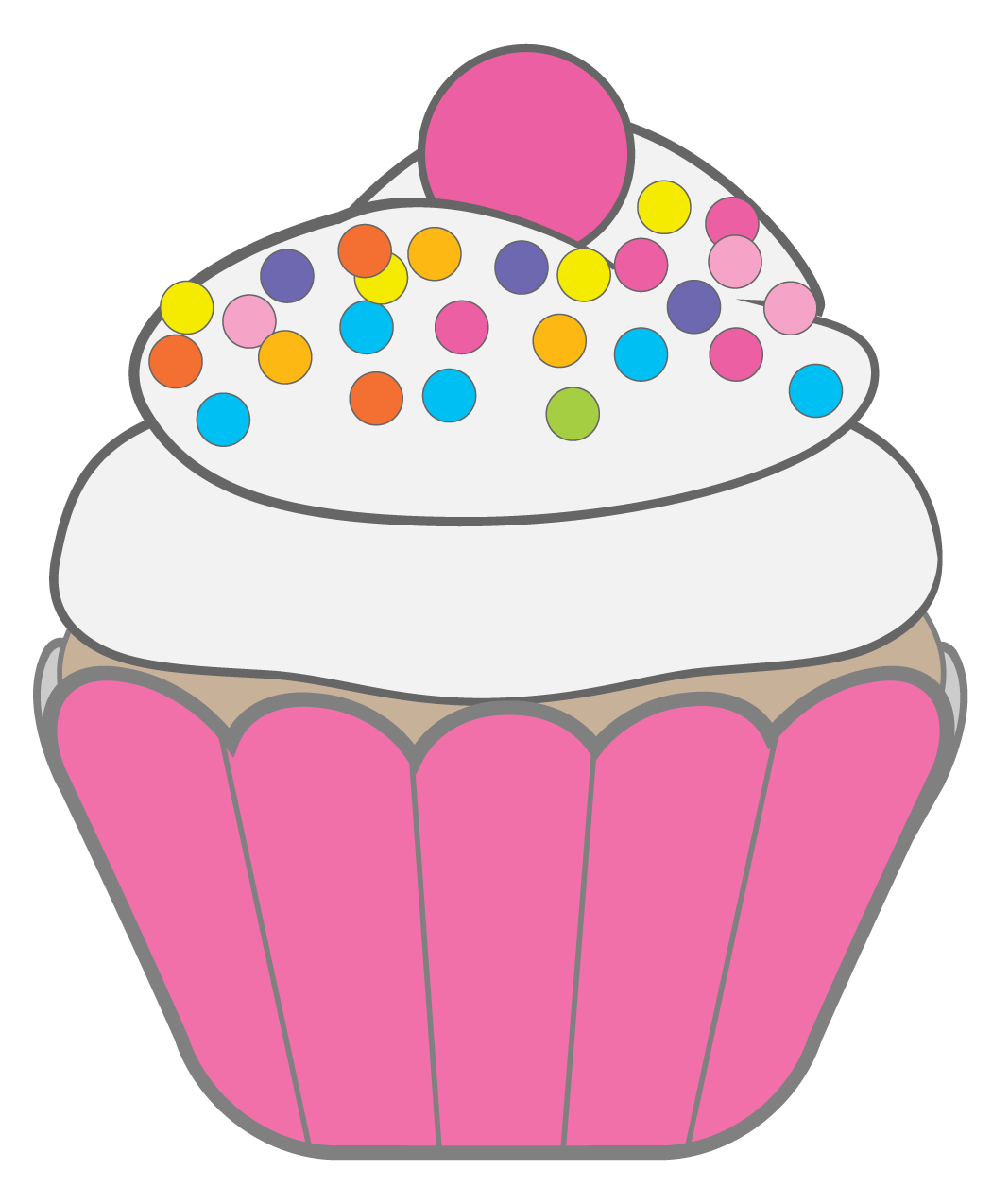 happy birthday cupcake clipart-happy birthday cupcake clipart-2