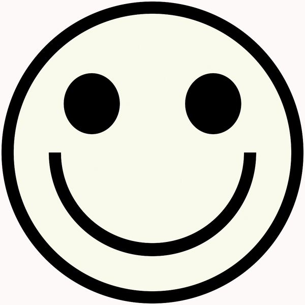 Happy Face Clipart Black And White-happy face clipart black and white-3