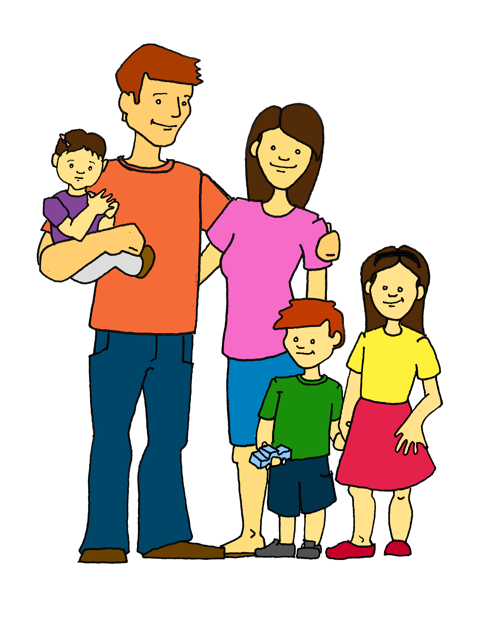 happy family clip art