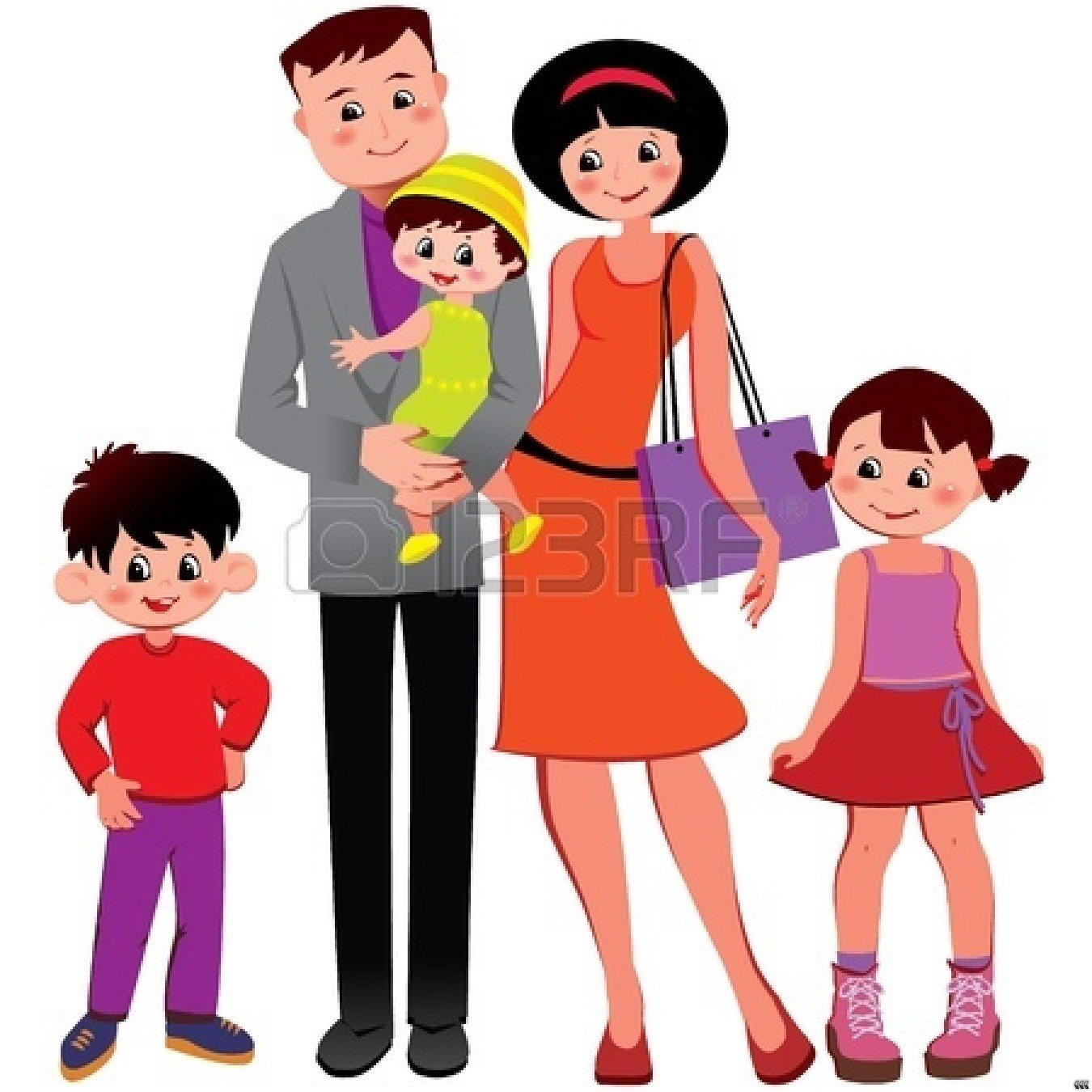 happy family clipart black and white