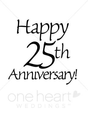 Happy 25th Anniversary Clipart-Happy 25th Anniversary Clipart-17