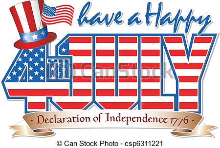 ... Happy 4th JULY - Have a Happy 4th July editable vector... Happy 4th JULY Clipartby ...
