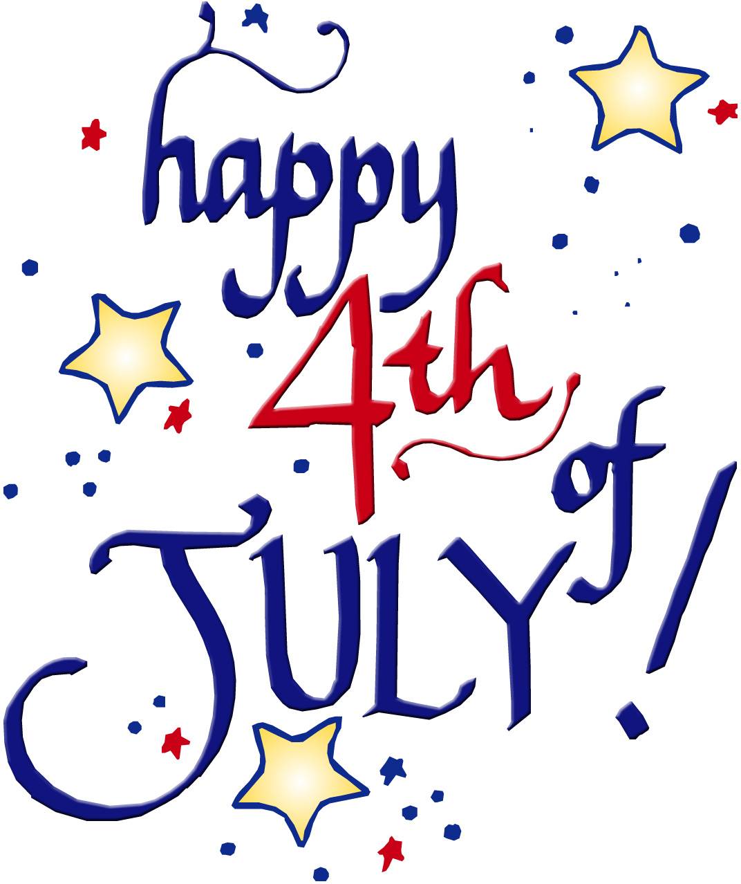 Happy 4th Of July Clip Art For .-Happy 4th Of July Clip Art For .-13