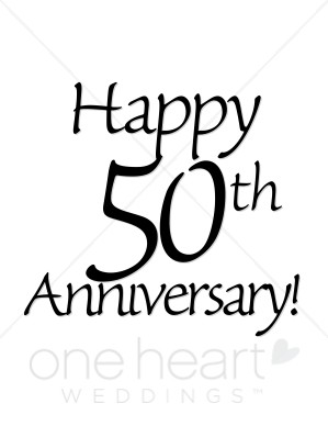 Happy 50th Anniversary Clipart