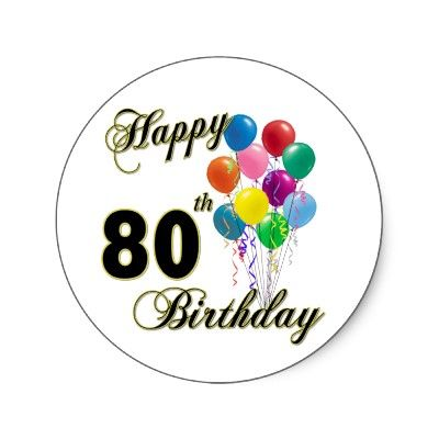 ... Happy 80th birthday clip art ...