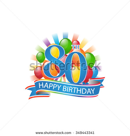 Happy 80th birthday clip art - ClipartFest