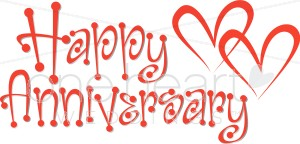 Happy Anniversary Clipart .