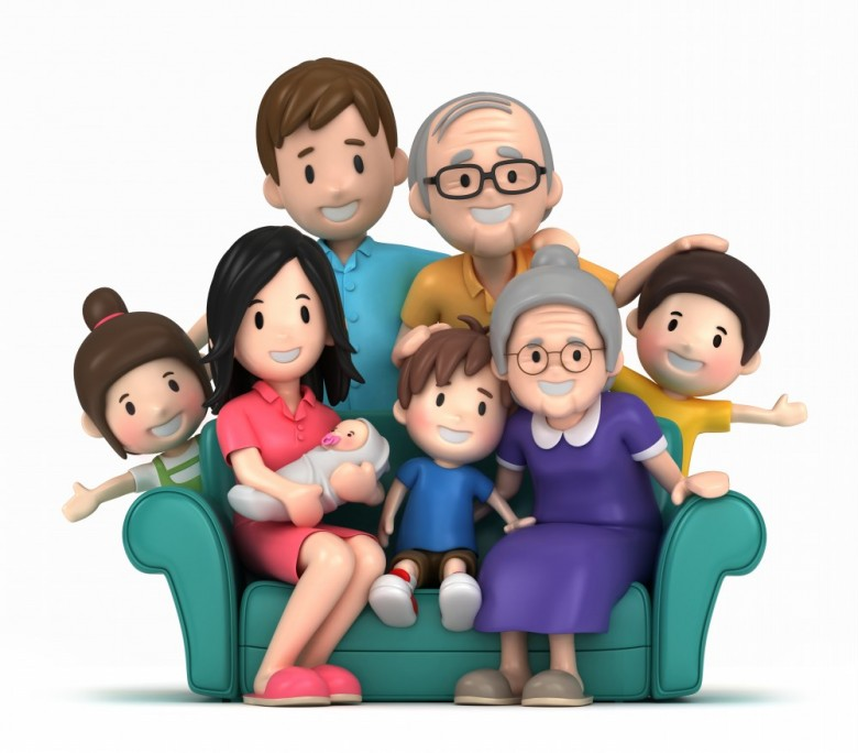 Happy big family clipart - ClipartFest
