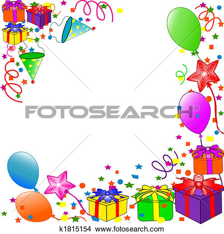 Happy Birthday background - Birthday Clip Art Borders