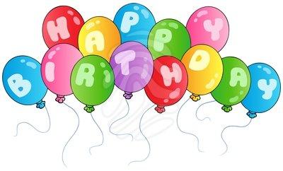 Happy Birthday Balloons Clipa - Birthday Balloons Clip Art