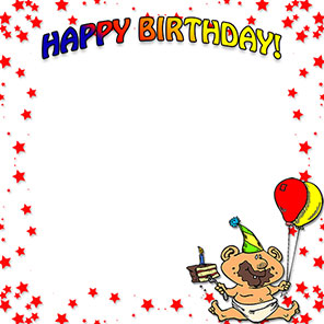 happy birthday boy - Birthday Borders Clip Art
