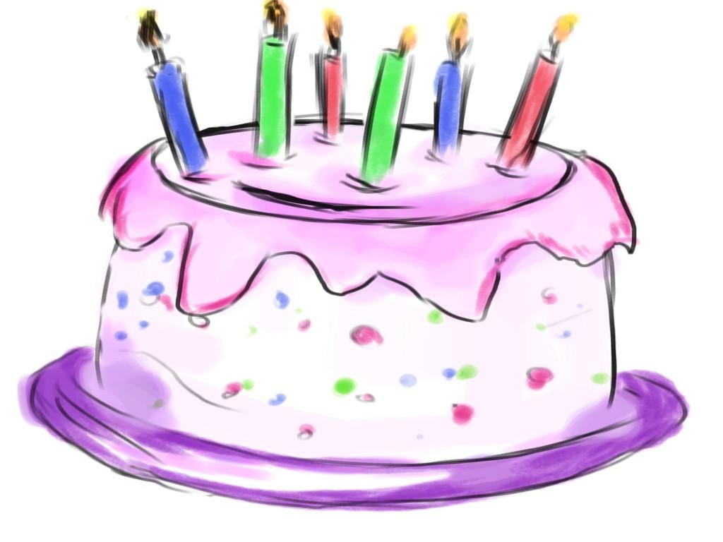 Happy Birthday Cake Clip Art .-Happy birthday cake clip art .-17