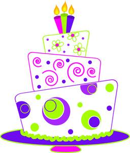 Happy Birthday Cake Clip Art . .
