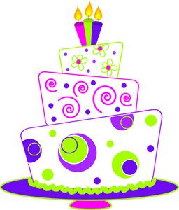 Happy Birthday Cake Clip Art . .