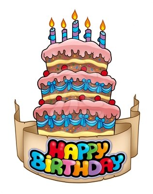74 Happy Birthday Cake Clipart ClipartLook
