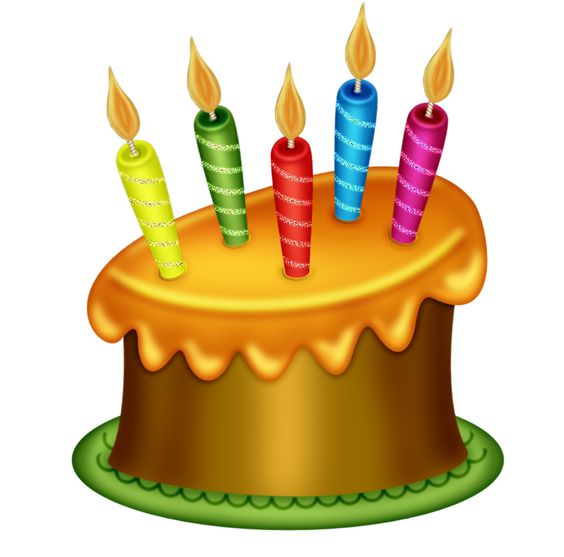 Happy birthday cake clip art png 12