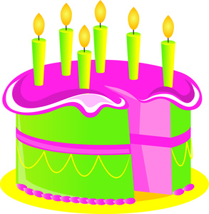 Happy birthday cake clipart .