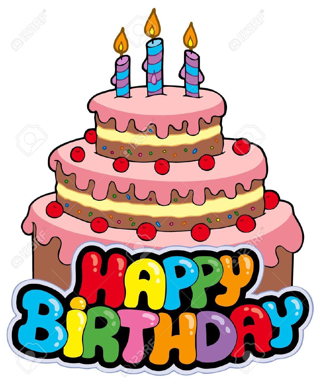 Happy Birthday Cake Clipart .-Happy Birthday Cake Clipart .-10