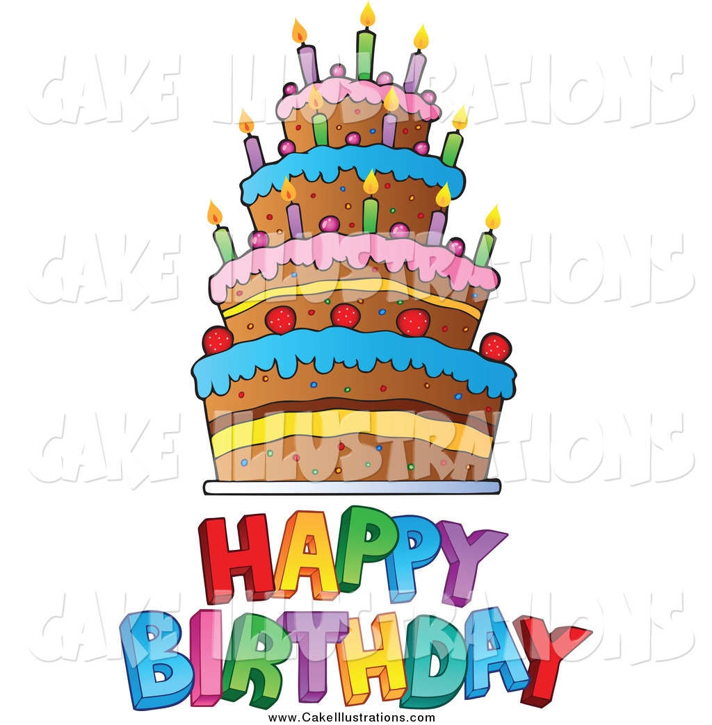 Happy birthday cake free clip art - ClipartFest