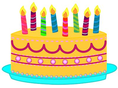 Happy birthday cake free clip art - ClipartFox
